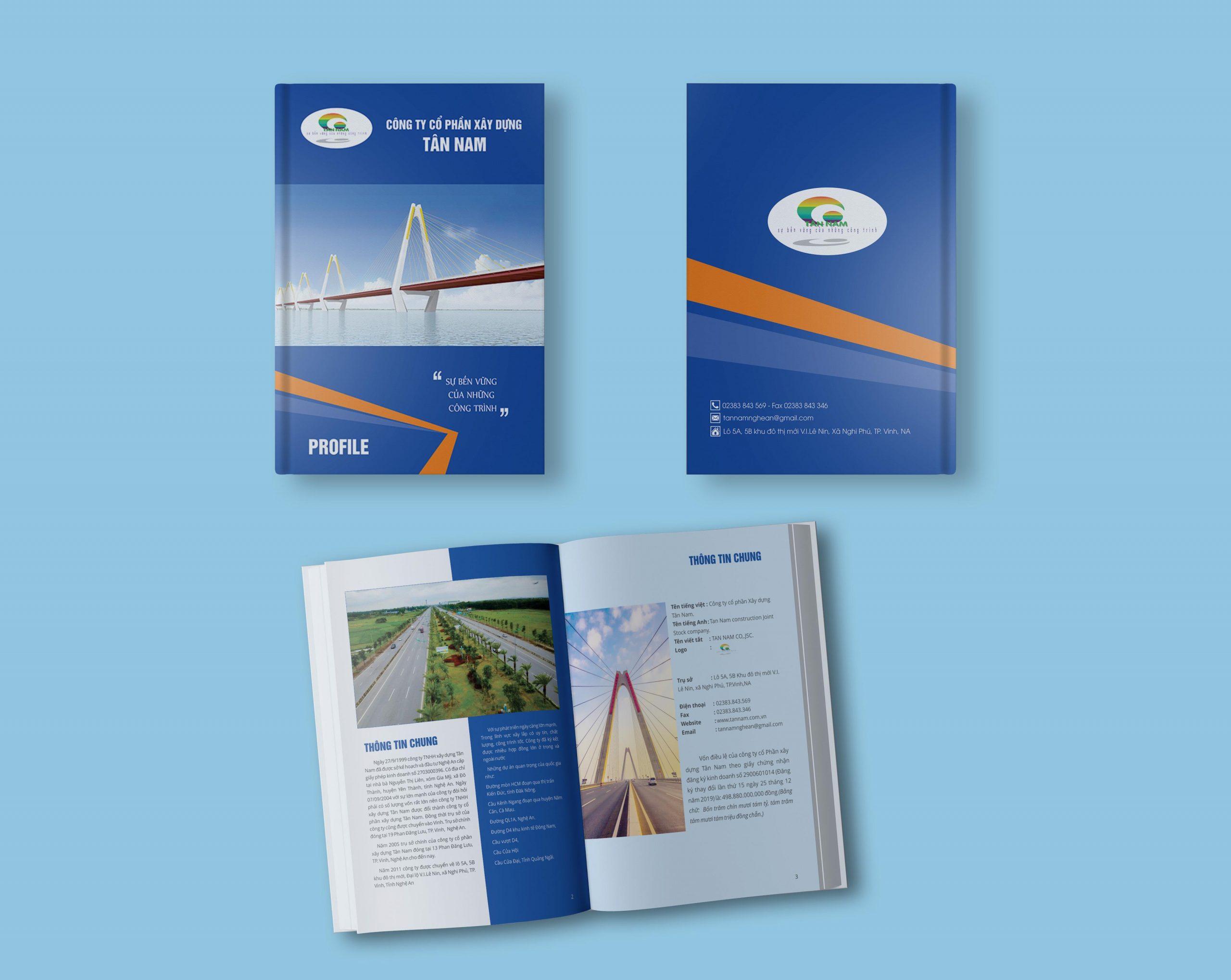 Thiết kế hồ sơ năng lực tại Vinh