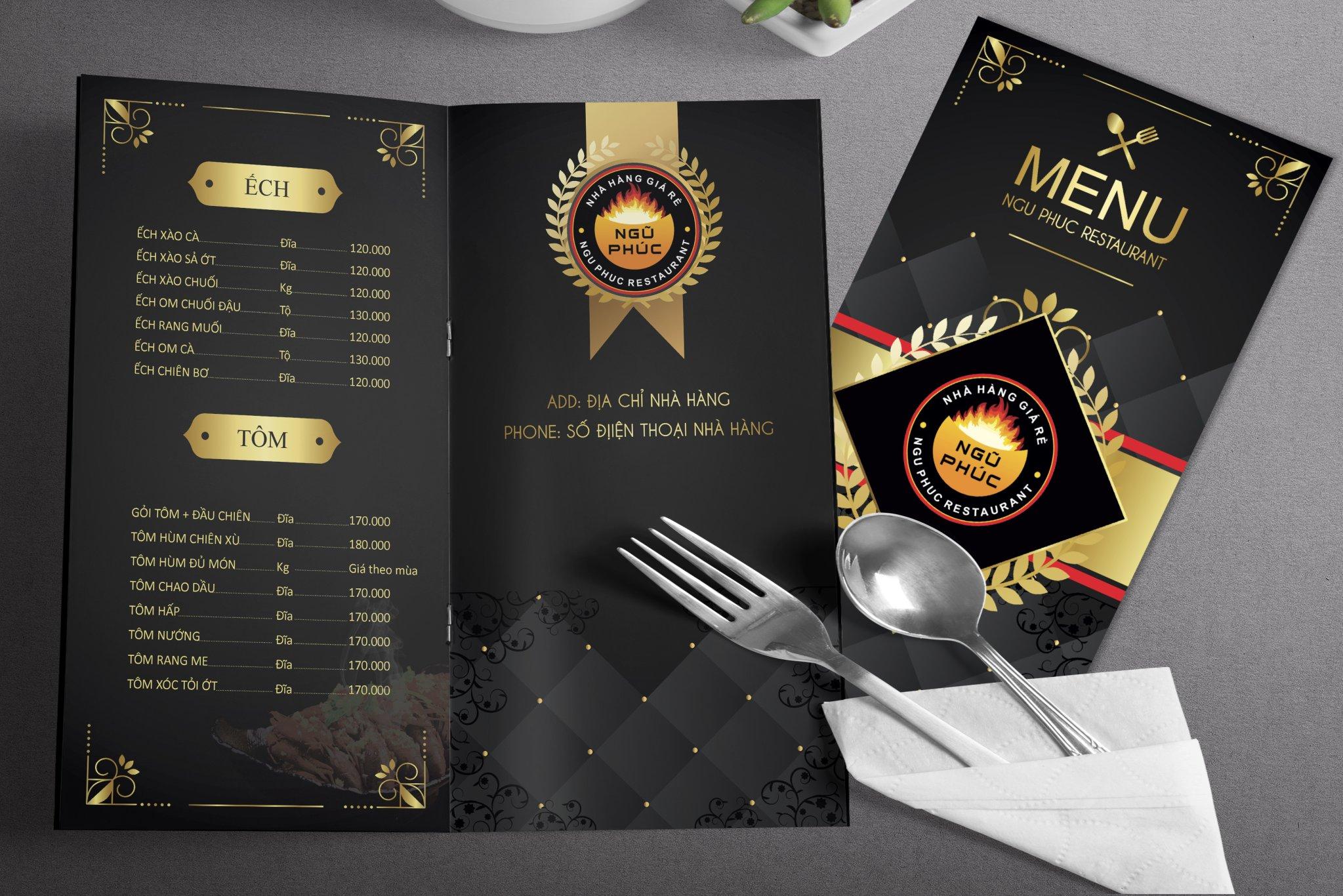 Thiết kế menu tại Vinh